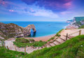 Jurassic Coast of Dorset with Durdle Door Royalty Free Stock Photo