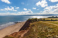 Jurassic Coast in summer Royalty Free Stock Photo