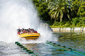 Jurassic Park water ride Royalty Free Stock Photo