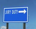 Jury Duty Sign Royalty Free Stock Photo