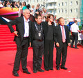 Jury of moscow film festival main competition xxxv international red carpet closing ceremony left to right sergey garmash mohsan Royalty Free Stock Photos