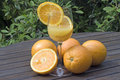 Jus d'orange frais Photographie stock libre de droits