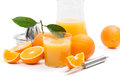 Jus d orange frais Image stock