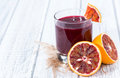 Jus d orange sanguine Image libre de droits