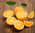 Jus orange et d orange Images stock