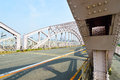Juso ohashi bridge in osaka japan old Royalty Free Stock Photo