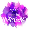 Just be Awesome brush lettering. Vector illustration for card or banner