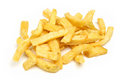 Just chips chunky on white background Stock Images
