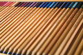 Just colored pencils in a box Royalty Free Stock Images