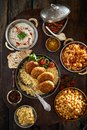 Just cooked orient food viewed from above Royalty Free Stock Photo