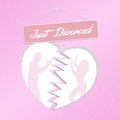 Just divorced illustration of sign Royalty Free Stock Image