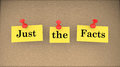 Just the Facts Basic Information Bulletin Board Royalty Free Stock Photo