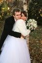 Just married 免版税库存图片