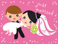 Just married Royalty Free Stock Photo