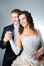 Just married bride and groom Stock Photo
