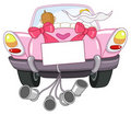Just married car Stock Images