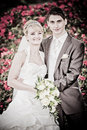 Just married couple - artwork Royalty Free Stock Photo