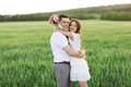 Just married couple hugging and smiling Royalty Free Stock Photos