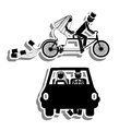 Just married design over white background vector illustration Stock Photography