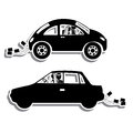 Just married design over white background vector illustration Royalty Free Stock Photography