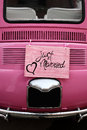 Just married wedding sign for car or decoration Royalty Free Stock Photography