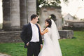 Just Married, young couple Royalty Free Stock Photo