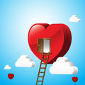Just open heart happy valentine day 001 Royalty Free Stock Photo