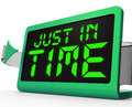 Just in time clock means not too late meaning Royalty Free Stock Photography