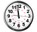Just twelve clock isolated white background Stock Images