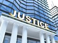 Justice building and sign done in d Royalty Free Stock Image
