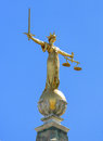 Justice close up of the golden statue on top of the old bailey the central criminal court of england and wales commonly known as Stock Photos