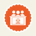 Justice icon Royalty Free Stock Photo