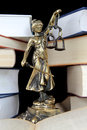 Justice Statue and book. Lawyer background Stock Image