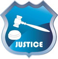Justice vector illustration of the hammer of Royalty Free Stock Images