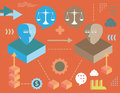 Justice in virtual network Royalty Free Stock Photo