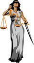 Justitia goddess of justice color illustration Stock Image