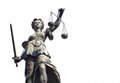 Justitia isolated on a white background Royalty Free Stock Photography