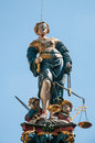Justitia monument of in bern swiss Stock Photography