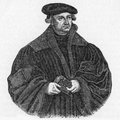 Justus jonas reformer – a german lutheran and colleague of martin luther from a portrait by cranach published in life of luther Royalty Free Stock Photos