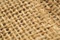 Jute cloth macro Royalty Free Stock Images