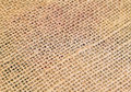 Jute detailed closeup of fabric of a sack Stock Photography