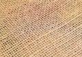 Jute detailed closeup of fabric of a sack Stock Photography