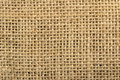 Jute fabric close up of pattern of a Stock Image
