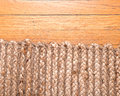 Jute pile hand woven rug Royalty Free Stock Photo