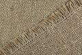 Jute texture background of natural unbleached canvas or burlap showing fibre and weave and pattern Stock Image