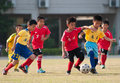 Juvenile football in november guangdong province china campus in foshan experimental primary school was officially launched die Royalty Free Stock Images