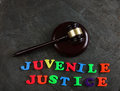 Juvenile Justice gavel Royalty Free Stock Photo