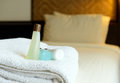 Körpergel shampoo und lotion Lizenzfreie Stockfotos
