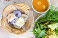 Köstliche thailändische food kanom jeen nudeln Lizenzfreie Stockfotografie