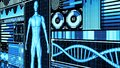 8K 3D Rendering Human Body and DNA double helix Scan Analysis Abstract Medical Futuristic HUD Display Screen interface ver.3 Royalty Free Stock Photo